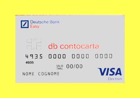Immagine fac-simile di DB Contocarta