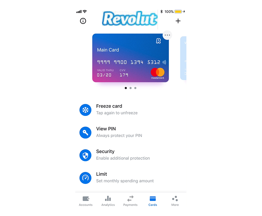 Carta virtuale Revolut