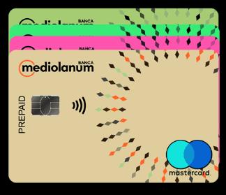 Mediolanum prepaid card alcuni facsimili variamente colorati