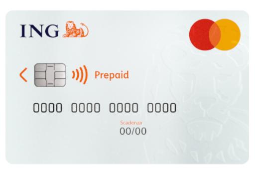 Facsimile di prepagata Mastercard Conto Arancio