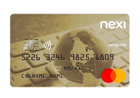 Facsimile di una Nexi Prepaid