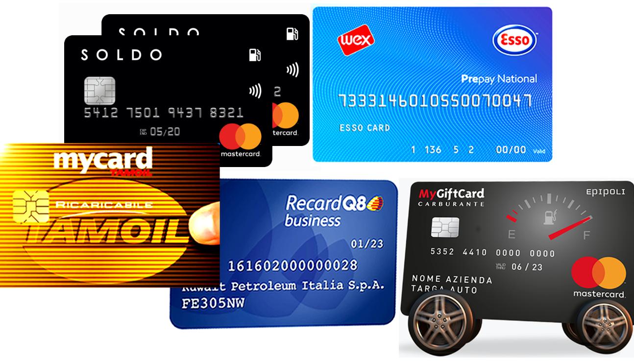 Carte carburante prepagate facsimile di fuel card emessa da Esso, Tamoli, Q8, Soldo ed Epipoli