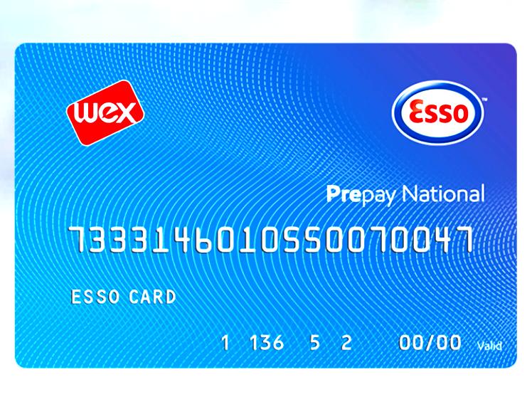 Facsimile di una ESSO CARD Prepay