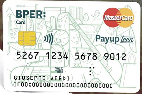 Facsimile di BPER Card Payup Teen