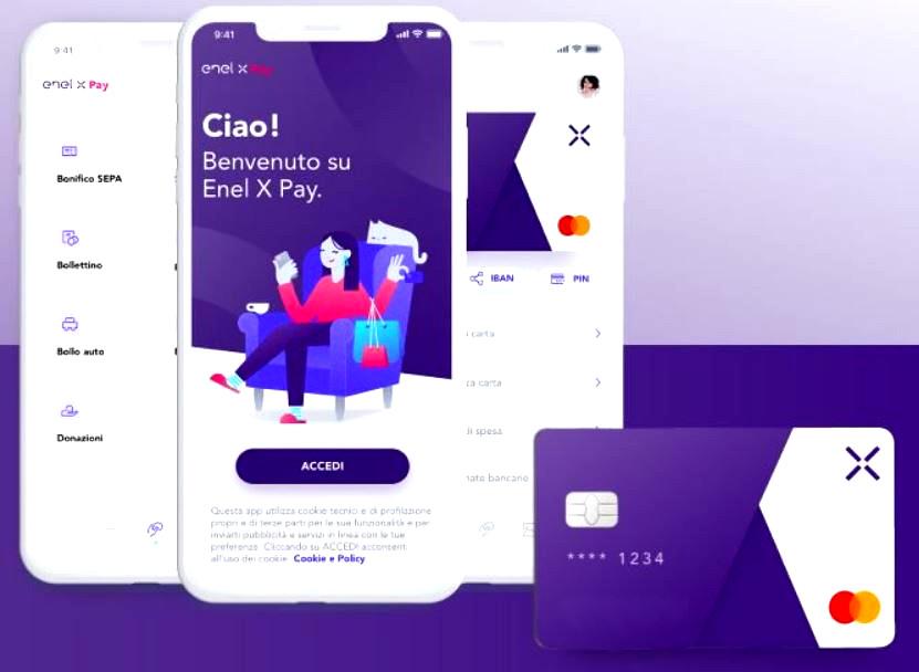 facsimile di enel x pay ed app associata