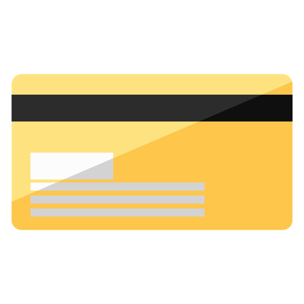 Prepagate con massimali elevati: facsimile di una carta di pagamento